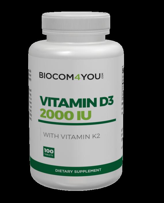 Biocom D3 2000 IU With Vitamin K2